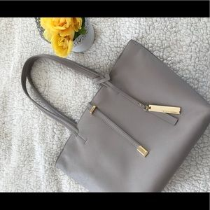 Vince Camuto Leila Tote in Driftwood 100% Leather